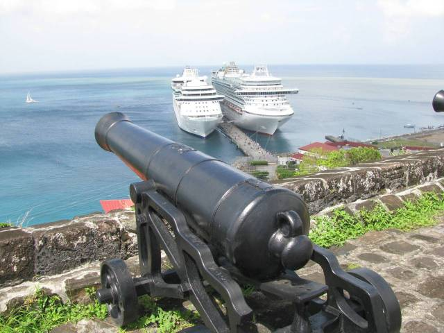 Fort George overlooking ships