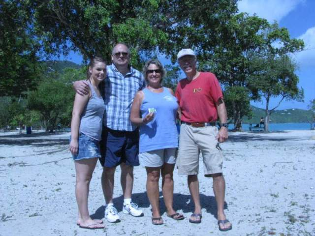 The four of us at Magens Bay