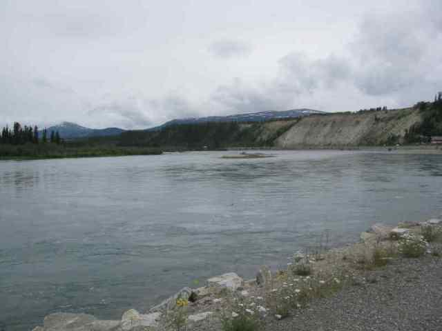 view of the Yukon River near the S.S. Klondike