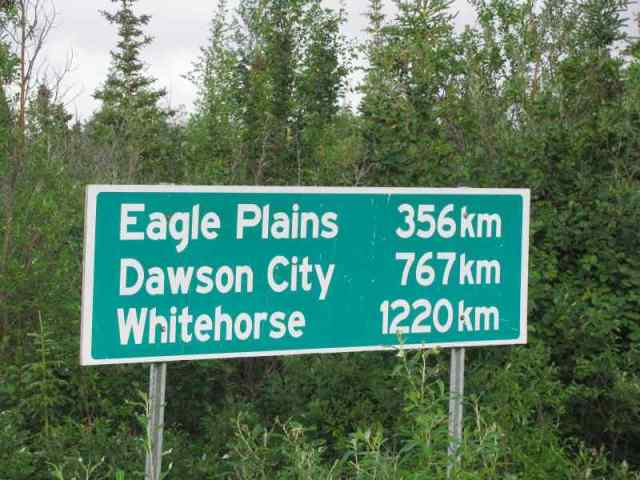 You better have enough gas to get to Eagle Plains