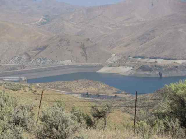 view of the dam/lake