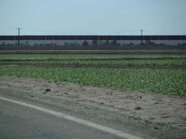 Yep, that is the Mexican Border