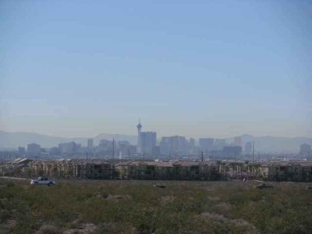 view of Las Vegas from the bottom of the heart