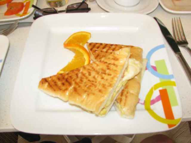 Scrambled egg Breakfast Panini