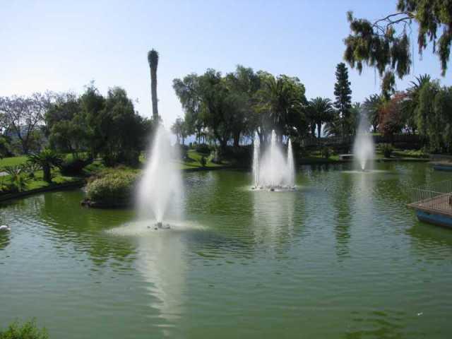 Fountain in Parque Santa Catarina.