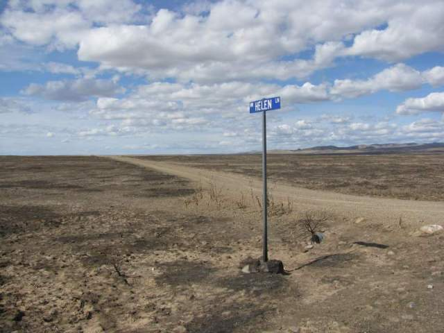 Street sign in the middle of no where and no where....