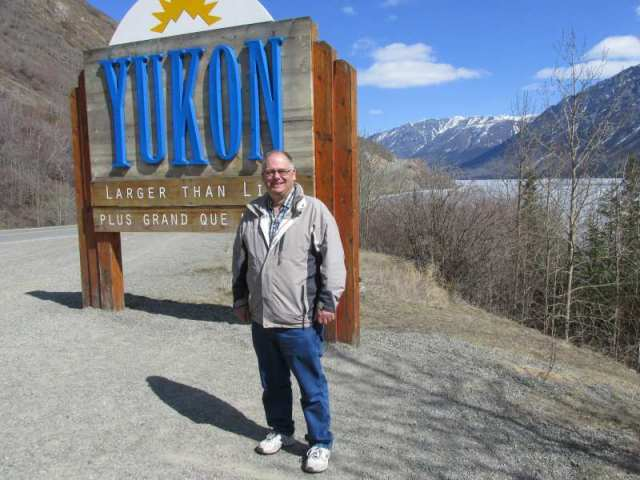 At the Yukon -  BC Border
