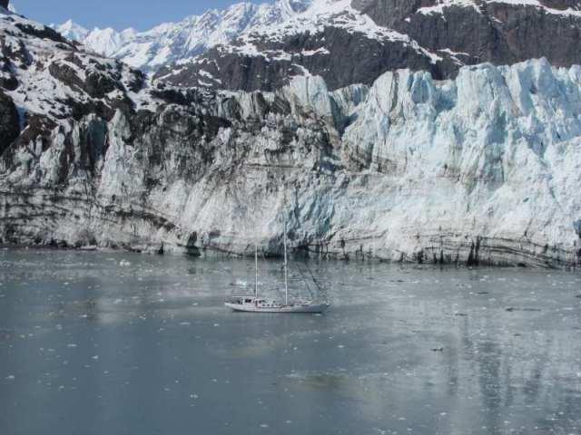 Sailboat between us and Marjorie Glacier