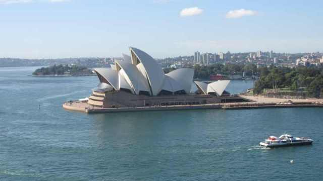 view from the Sydney Bridge of the iconic Opera House