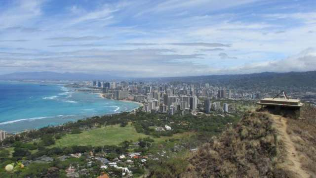 view from the back towards Waikiki